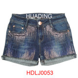 Women Ladies Short Denim Jeans Short (HDLJ0053)