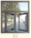 Matt Grey Aluminum Sliding Window for Residence Made in Fohan