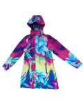 Colourful Hooded PVC Raincoat for Woman