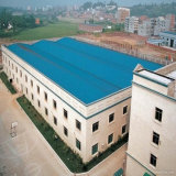 Prefabricated Light Steel Structure Workshop Building with Parapet Wall
