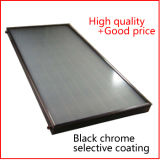 Flat Plate Solar Collector with Black Chrome Absorber Coating for Solar Hot Water Heater System