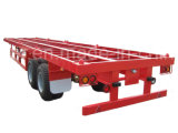 China Factory Best Price 40 FT 2 Axles Skeletal Container Transport Semi Trailer for Sale