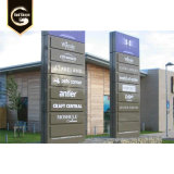 Outdoor Stainless Steel Advertising Project Pylon Sign for Real Estate