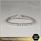 2017 Wholesale Jewelry 3mm CZ Crystal 925 Silver Tennis Gold Bracelet for Men