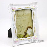Europe Pink Flowers Pattern Resin Photo Picture Frame