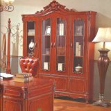 Wooden Bookcase and Magazine Rack for Home Office Furniture
