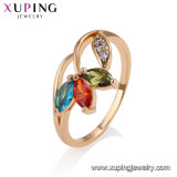 13585 Wholesale Fashion Women Jewelry Luxury Style Colorful Gemstone Gold Plated Copper Alloy Finger Ring