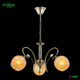 Modern Glass Round Flower Glass Chandelier