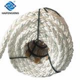 White 8 Strand Braided Floating Polypropylene Dan Line Mooring Rope Price