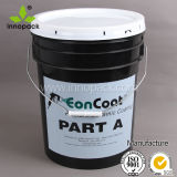 Printed Black PP 20kg Concrete Pail for Mixing