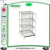 Plain Bacl Panel Metal Gondola Supermarket Shelf