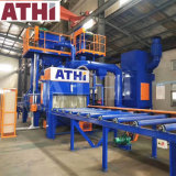 Roller Conveyor Type Abrasive Shot Blasting Cleaning and Spray Painting Machine for H Beam Structural Steel