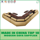 Modern Circular Fuctional Couches Leather Sectional Sofa with Recliner