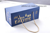 Luxury Paperboard Cosmetic Box with Rope Handle and Emboss Logo