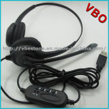Top Selling Binaural USB Call Center Headset for PC USB Headsets