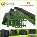 Double Shaft Shredder for 800mm Car Tire Recycling Machine for Sale