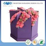 Waterproof Recyclable Cardboard Rolled Edge Cheap Flower Boxes Luxury Cardboard Box