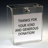 Wholesale Charity Acrylic Donation Box with Lock (BTR-Y1006)