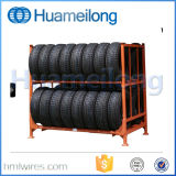 Best Price Industrial Foldable Mobile Metal Tire Storage Stacking Rack