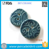 Decorative Deep Blue Ceramic Hand Sewing Buttons