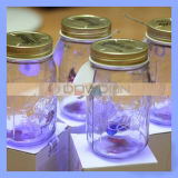 4 Colors Electronic Butterfly in Jar Lid with LED for Customized Logo (BUTTERFLY-01)