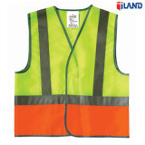 High Visibility Fluorescent Knitted Fabric Reflective Stripe/Tape Safety Vest Clothing