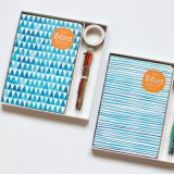Cover Planner Notes with Pen and Stickers, Students Diary Set