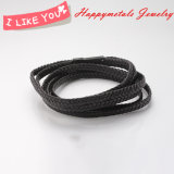 Hotsale Simple Style Genuine Leather Stainless Steel Jewelry Bracelet