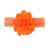 Girls Chiffon Flower Hair Bow with Elastic Band Baby Headband