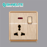 Golden 1 Gang 13A Multi Function Socket with Neon