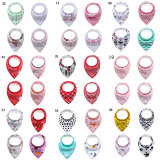 Amazon Hot Sell Cute Design Triangle Disposable Baby Bandana Drool Bibs