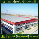 Corrugated Steel Sheet Covered Steel Structure Construction