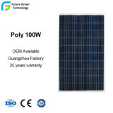 100 Watts Power Polycrystalline Solar Module for Electric Cars