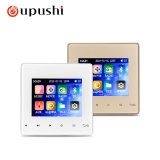Oupushi Smart Home Music System 3.5 Inch Bluetooth in Wall Amplifier Support Remote Control