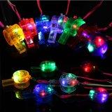 Luminous Whistle Colorful Lanyard LED Light up Fun Party Rave