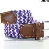 B06 Hot Sale Braided Elastic Stretch Belt Pin Buckle Military Web Classic Canvas Top Designer Belts