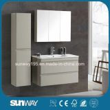 Hotel Modern MDF Lacquer Painting Bathroom Cabinet with Side Cabinet