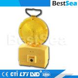 LED Burst Flash Traffic Warning Light Yellow Solar Flashing Warning Light LED Flashing Lights