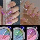 Mix 2 Color Solid Nail Art Glitter Chrome Powder Decoration, Nail Art Design Accessies