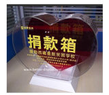 Heart Shape Acrylic Donation Box with Lock (BTR-Y1003)
