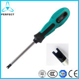 Non-Slip Handle Magnetic Cr-V Screwdriver