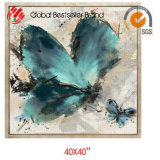 2017 Customized Beautiful Butterfly Hand Oil Painting Home Wall Art Paintings (GF-008)