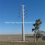 Galvanized Steel Pole Power Transmission Monopole Tower