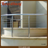 Curved Pool Fence Stainless Steel Wire Balustrade for Round SPA Area/Cable Railing