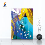 Eco-Friendly Handmade Abstract Fish Oil Painting Good Design Wall Art for Hotel