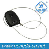 Retractable Flexible Wire Combination Cable Lock (YH9933)