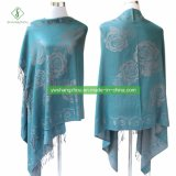 New Design Fashion Pashmina Shawl with Rose Jacquard Scarf