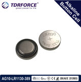 Mercury&Cadmium Free China Factory Alkaline Button Cell for Watch (1.5V AG10/LR1130/389)