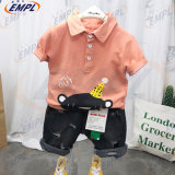 2020 New Design Fashion Pure Cotton Costum Kids Wear Cute Short-Sleeved Two-Piece Set Boy Clothes for Summer Children Clothes