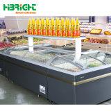 Glass Door Supermarket Fridge Freezer Commercial Refrigeration Equipment Display